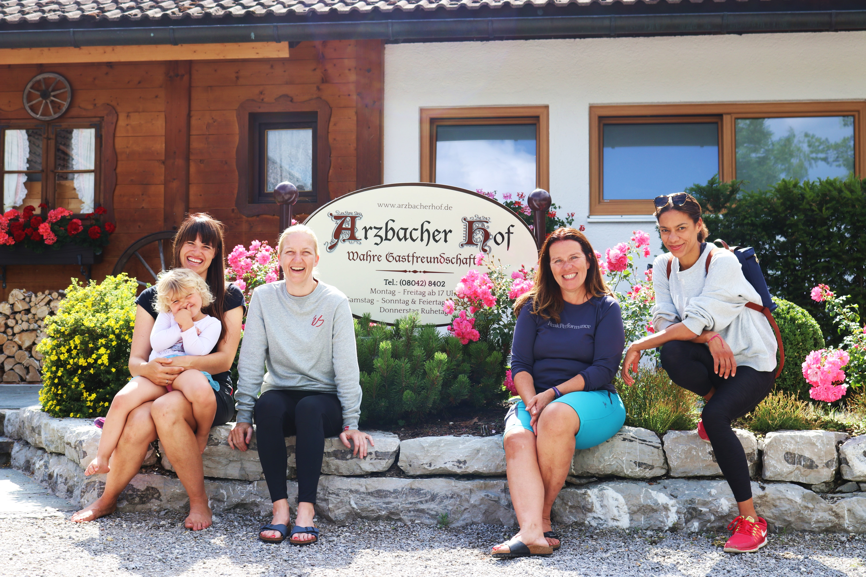 Mein Gipfeltreffen mit dem Münchner Power-Kleeblatt Carolin, Svenja und Claire